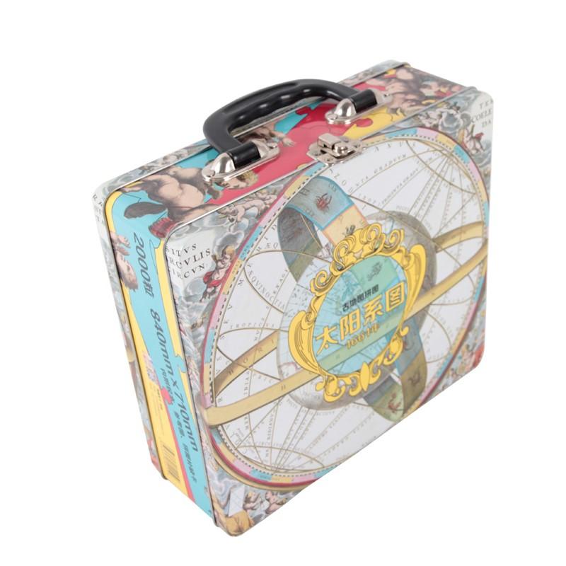拼图铁盒,卡通拼图铁盒包装,新款卡通拼图铁盒包装