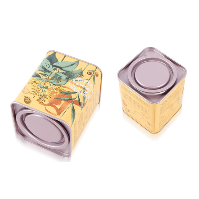 正方形撬盖茶叶铁罐 马口铁茶叶罐批发 花茶铁罐