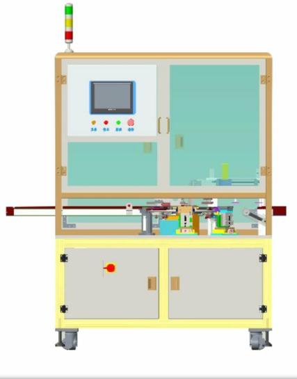 CCD焊点检测+L型镍片折弯机
