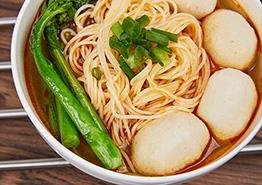 香辣鱼丸面汤