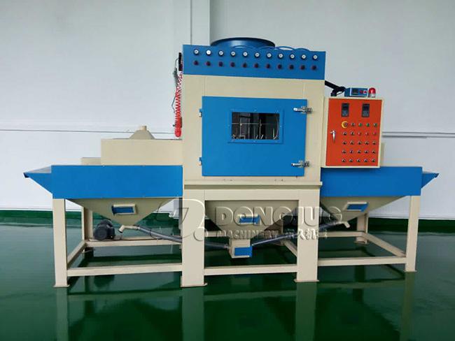 输送式自动喷砂机