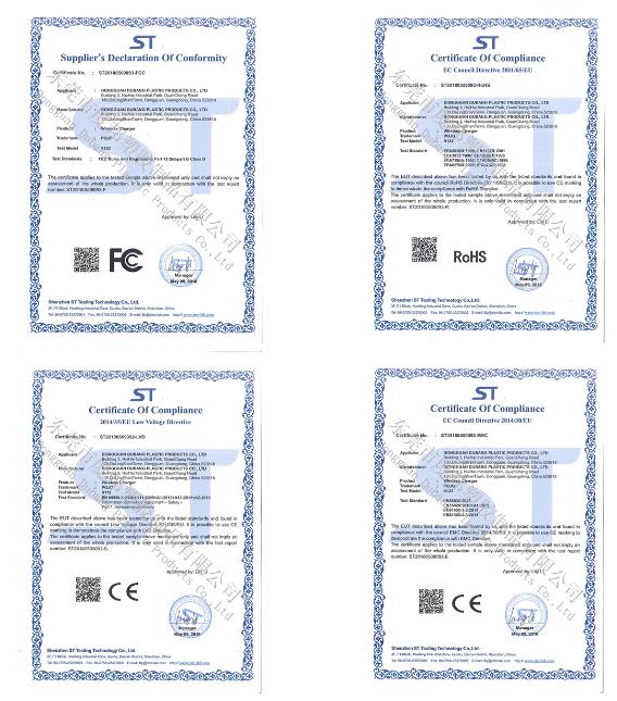 CE、FCC、ROHS證書