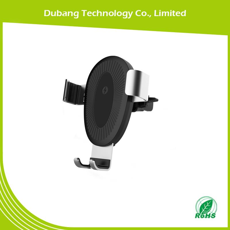 车载无线充电器S132,QI标准无线充电,重力无线充电器生产厂家