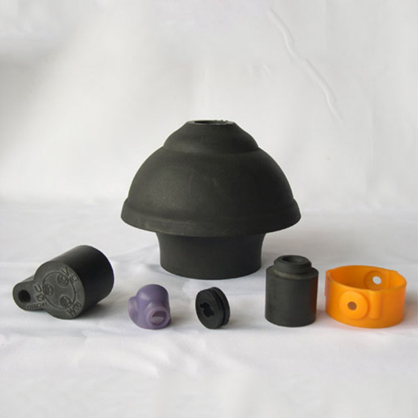 Wear-resistant silicone rubber parts