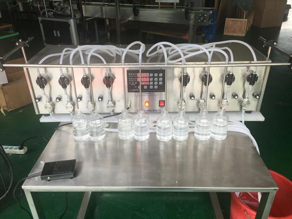 8头小泵精油烟油香水眼药水灌装机