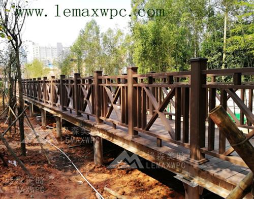 """东城""""西瓜岭""""PP木塑绿道工程(三)架空护栏栈道平直桥"""