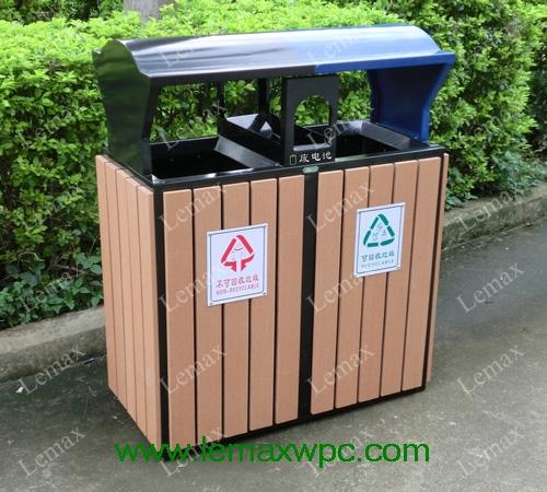 PP木塑垃圾箱V