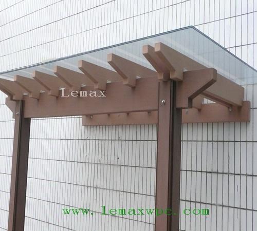 Laminated glass awning awning