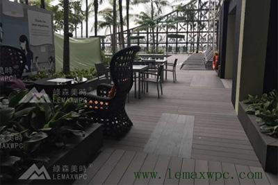 绿美时PP木塑地板用在国外机场酒店的工程实例