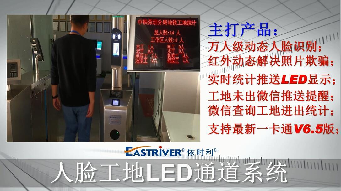 betway体育平台人脸工地LED通道演示