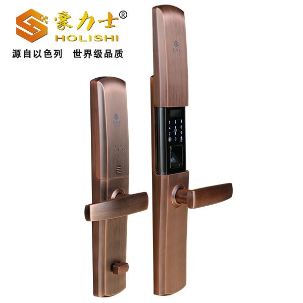 智能豪华力士指纹门锁高端三星防盗门智能锁D1880F