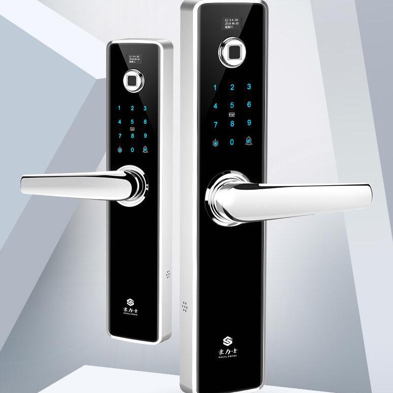 豪力士指纹锁家用防盗门智能锁密码锁D6061F