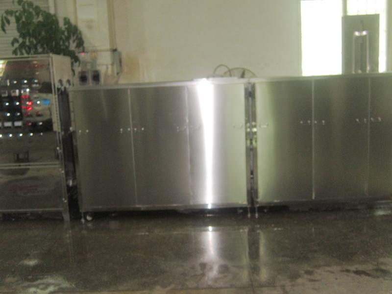 6槽超声波喷淋慢拉清洗机