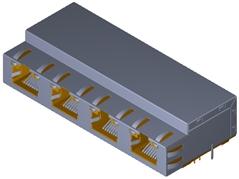 10G 1X4  RJ45連接器模組