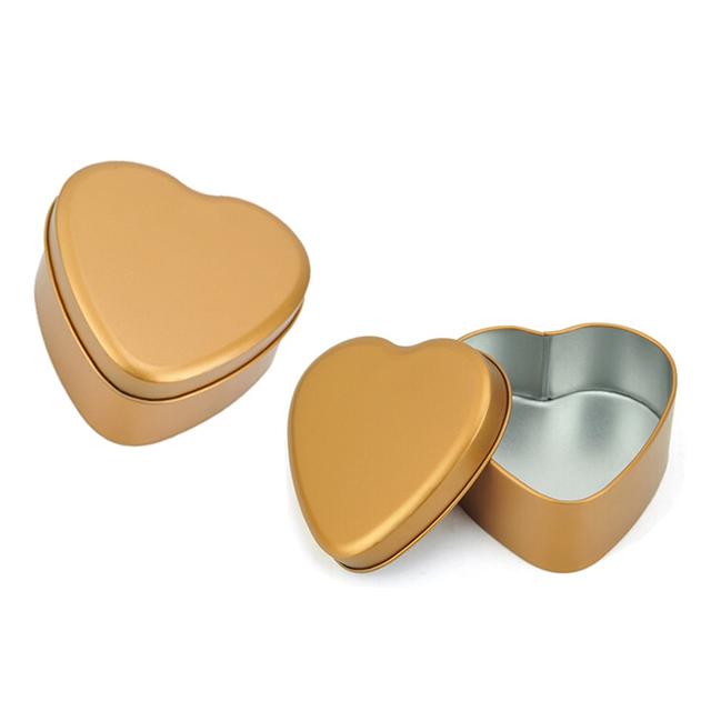 马口铁异形婚庆糖果铁盒 异形心形礼品铁盒