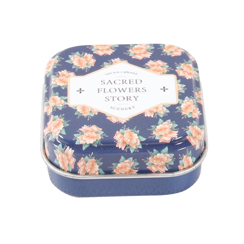 马口铁方形化妆铁盒 金属礼品化妆盒