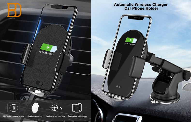 New design fast wireless charge,air vent automatic intelligent induction car phone holder, you absolutely worth it.