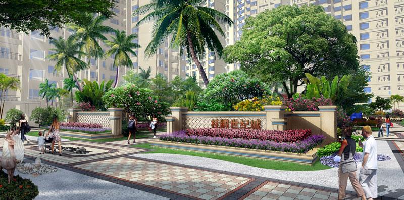桂鹏世纪城园林景观设计