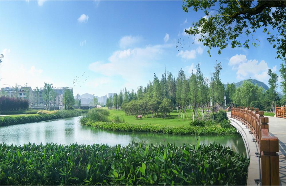 浙江溫嶺九龍湖生態濕地公園