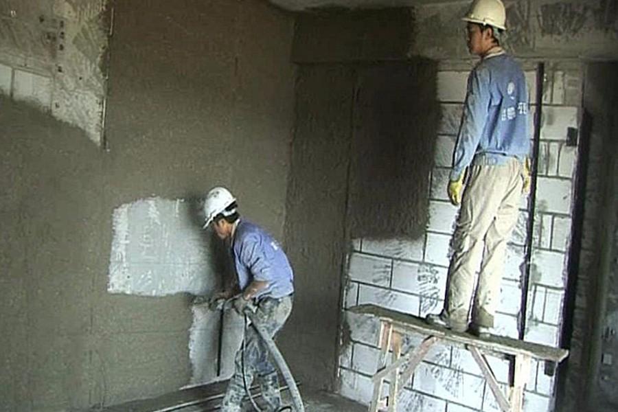 墙体抹灰以机械喷浆施工成套应用技术