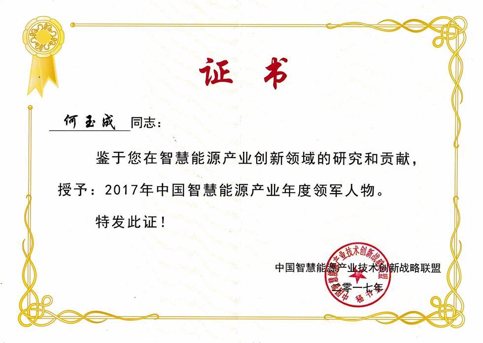 2017年中国智慧能源产业年度领军人物