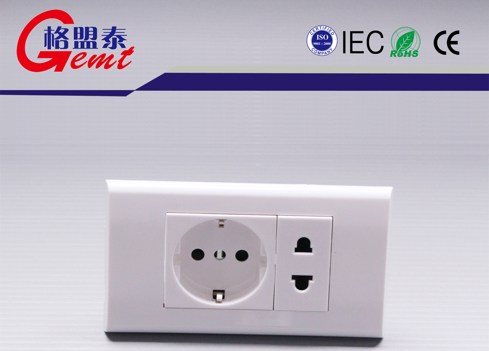 Europe Wall Socket & Two Round socket