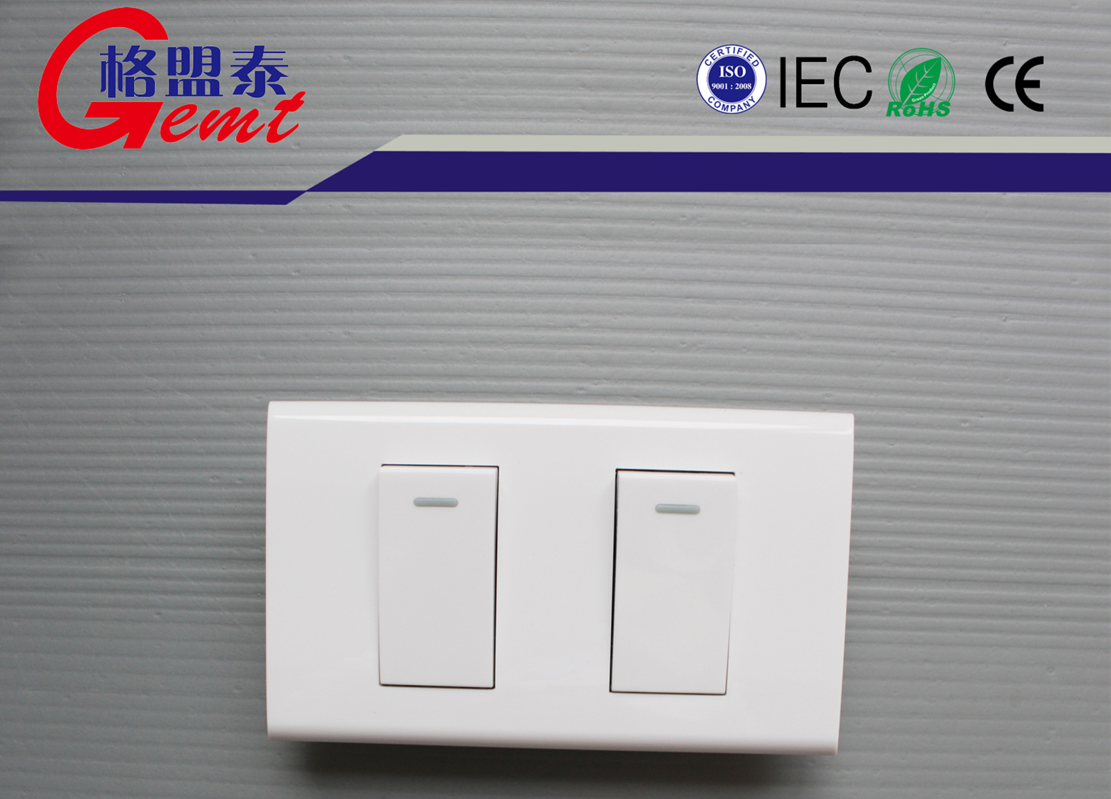 Double Electrical Wall Switch