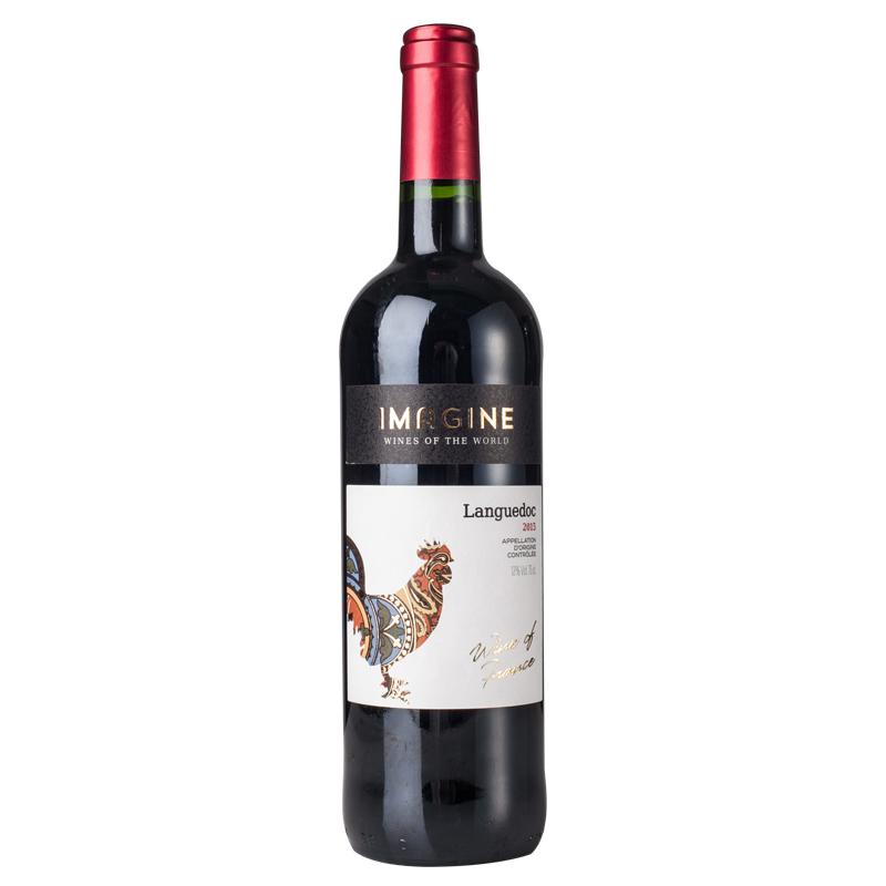 [爱汀堡 Edenbourg]法国铁血雄鸡 AOC干红葡萄酒 750ml 法国进口红酒 国礼系列