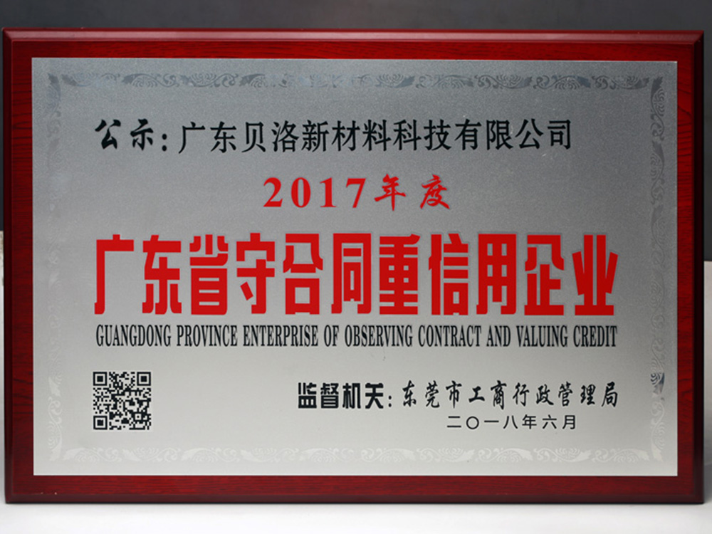 Guangdong Provincial Contract-abiding Enterprise