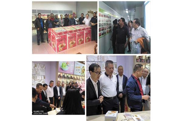 客户、各地方政府领导来到公司、糖酒会现场参观、交流