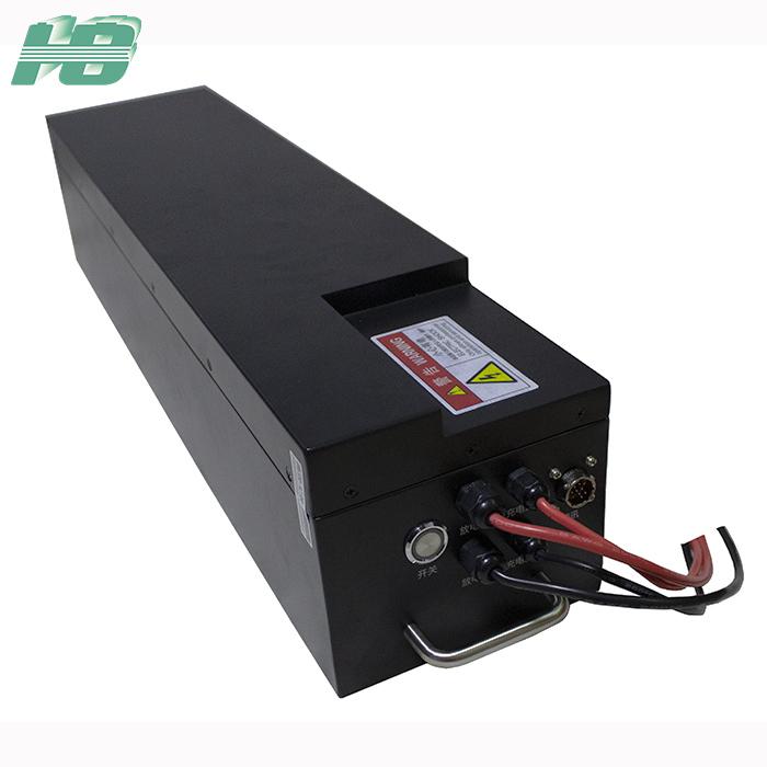 浩博48V50Ah磷酸铁锂电池BMS系统AGV机器人小车RS485通讯电池厂家