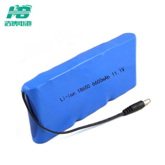厂家直销18650锂电池6600mAh探测器电源12V伏11.1V充电电池可定制