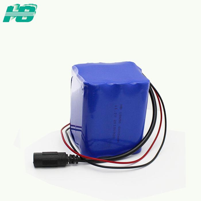 浩博18650锂电池12V共享纸巾机电池11.1V三元锂离子充电电池厂家