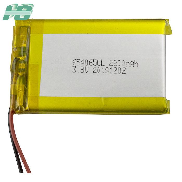 浩博654065低温电池-40℃聚合物电池2200mAh定制3.8V软包电池厂家