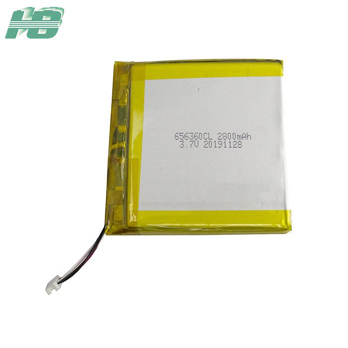 浩博656360低温电池-40℃聚合物电池2800mAh定制3.7V软包电池厂家