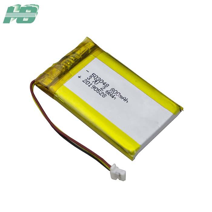 浩博503048聚合物锂电池800mAh三元锂离子可充电电池3.7V最新捕鱼棋牌下载