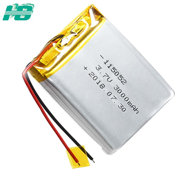浩博-40℃低温电池115052聚合物锂离子3000mAh大容量3.7V电池厂家