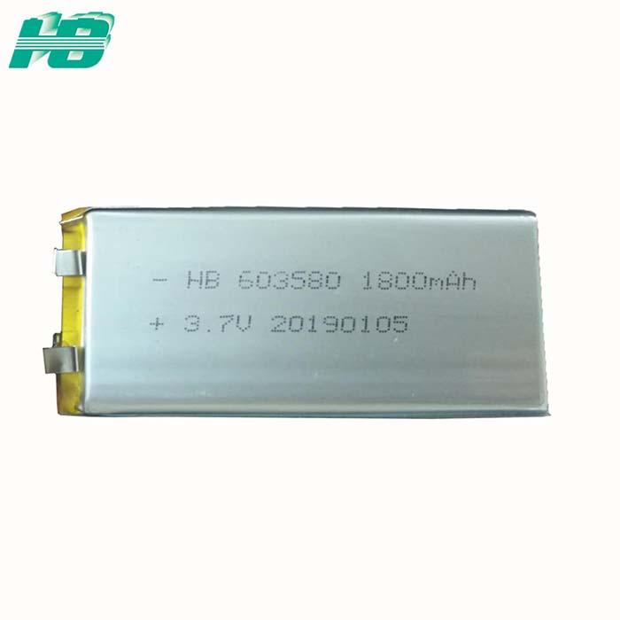 浩博603580聚合物锂电池1800mAh三元锂离子充电电池3.7V厂家直销