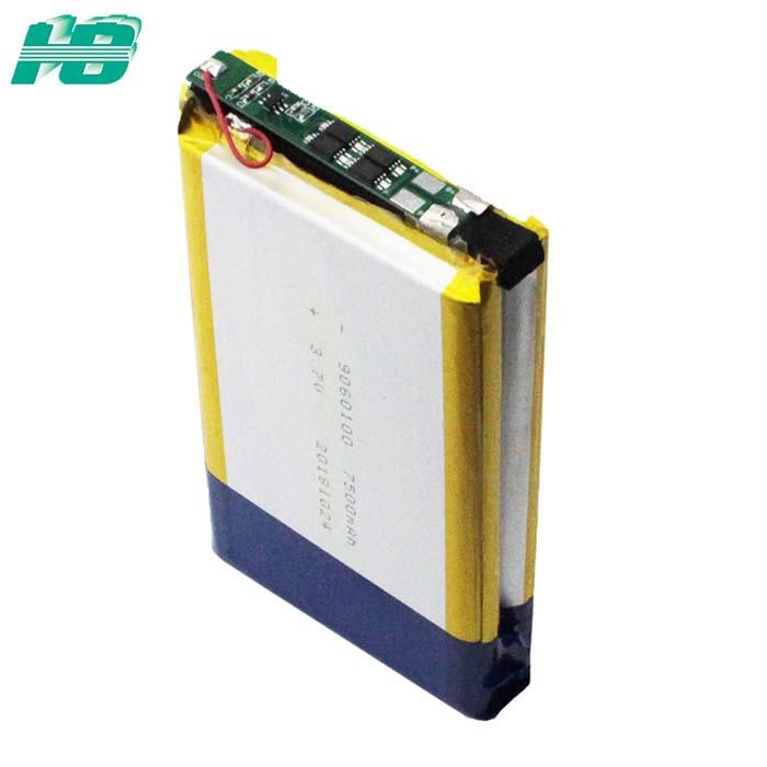 浩博9060100聚合物锂电池7500mAh大容量锂电池7.4V锂离子电池厂家