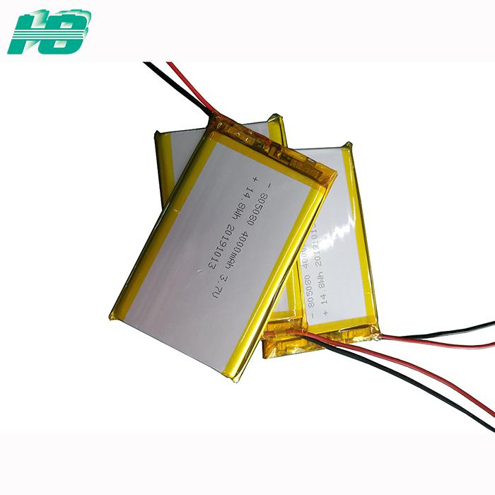 浩博805080聚合物锂电池4000mAh软包3.7V三元锂离子充电电池定制