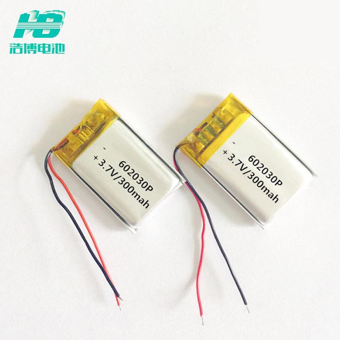浩博602030聚合物锂电池320mAh软包电池3.7V三元锂离子电池组厂家