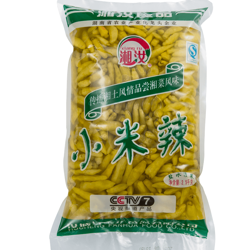 湘汝小米辣椒泡椒大包裝2.5kg