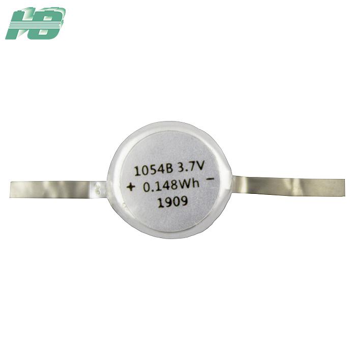 浩博1054纽扣电池40mAhTWS耳机电池3.7V聚合物锂离子充电电池厂家