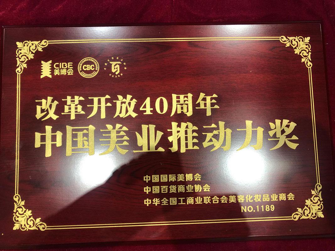 中国美业推动力奖