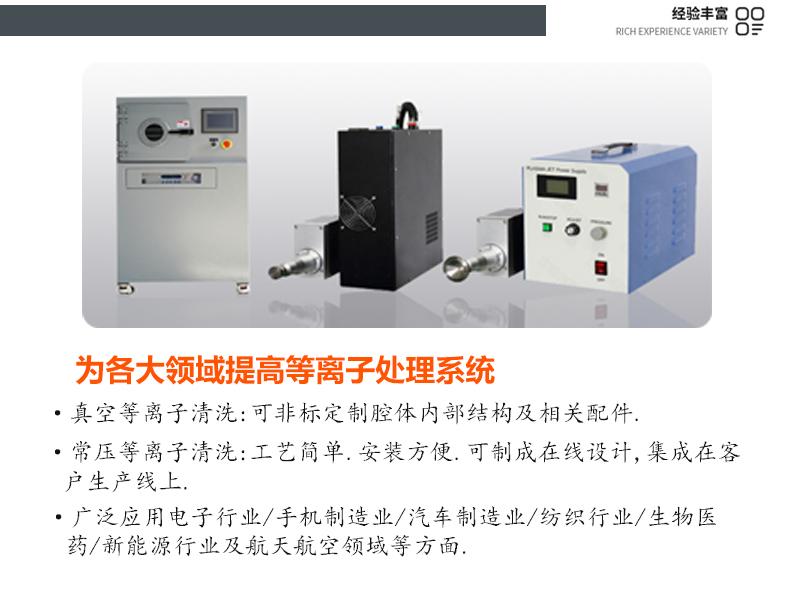 金铂利莱为各大领域提供等离子处理系统