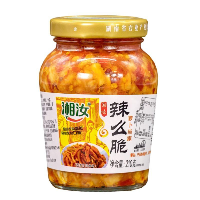 湘汝辣么脆蘿卜干210g自制農家湖南小包裝開胃榨菜咸菜下飯菜
